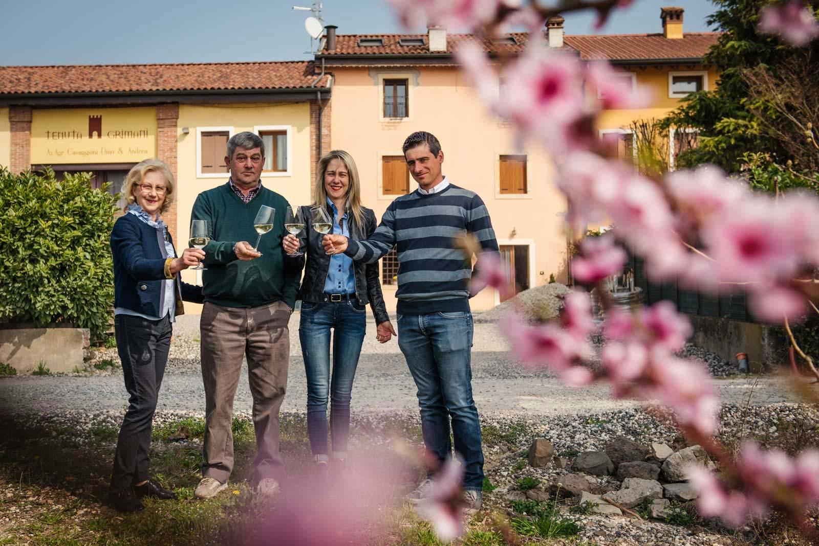 la famiglia Cavaggioni