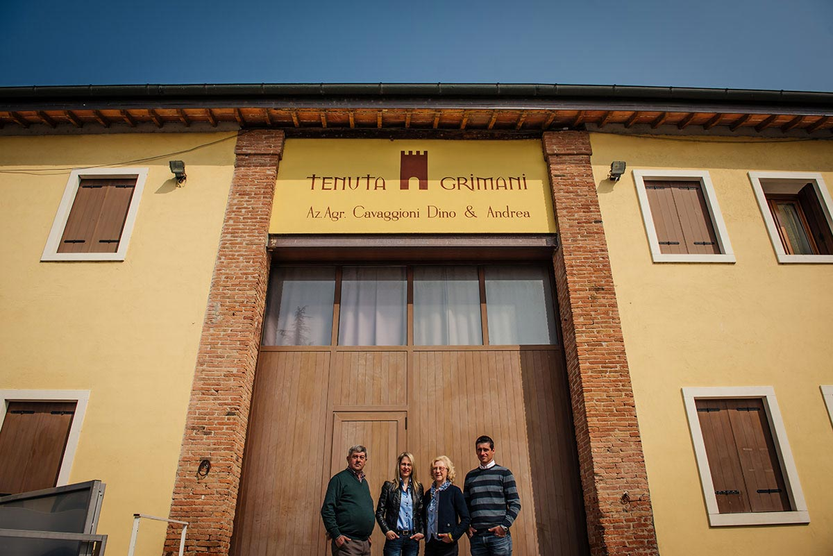 la famiglia in Tenuta Grimani